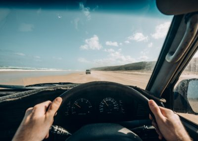 Point of View Driving on Fraser Island